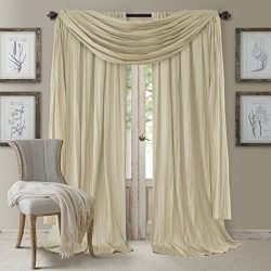 Elrene Home Fashions 026865857177 Window Curtain Drape Rod Pocket Panel, Set of 3, 52″ x 9 ...