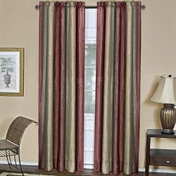 Achim Home Furnishings Ombre Window Panel, 50-Inch by 63-Inch, Burgundy
