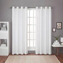 Exclusive Home Curtains Criss Cross Chenille Eyelash Room Darkening Grommet Top Window Curtain P ...