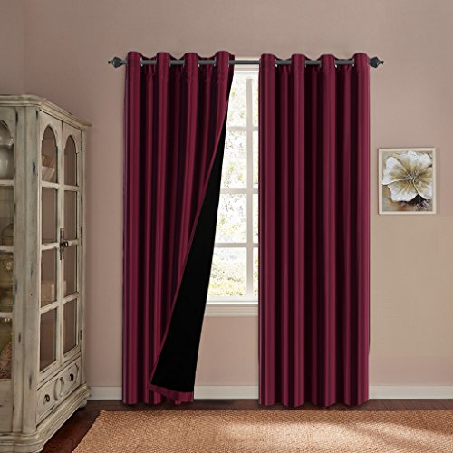 Thermal Blackout Curtains Reddit: H.Versailtex 100% Blackout Thermal Insulated Faux Silk