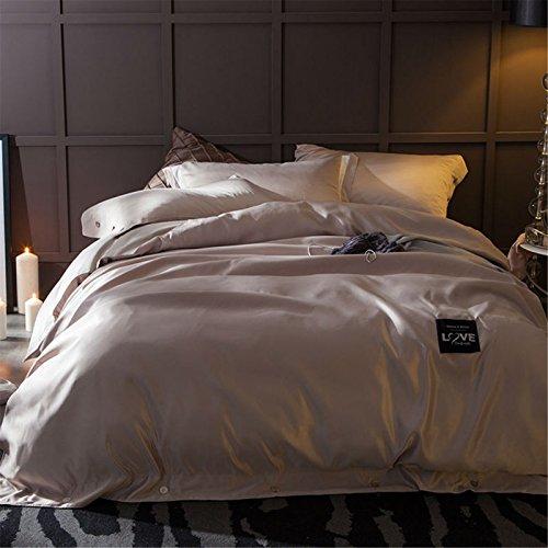 Jameswish Premium 4PC Silk Bedding Sets Duvet Cover Flat Sheets Pillowcases Cushion Luxury Satin ...