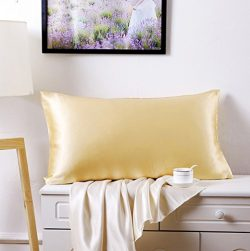 Silk Pillowcase for Hair and Skin 100 Percent Mulberry Natural Silk Pillow Shams,Baby/Toddler Si ...