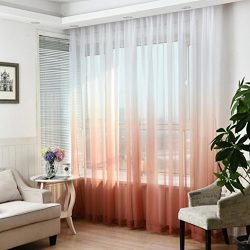 Window Curtain,Valances Tulle Voile Door Window Curtain Drape Panel Sheer Scarf Divider Dec (1,  ...