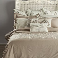 Adream Sateen Cotton 300TC Home Textile Bedding Set Solid Colored Duvet Cover Set Emboidery Comf ...