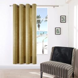 SUO AI TEXTILE Suede Treatment Darkening Thermal Insulated Blackout Grommet Window Curtains 1 Pa ...