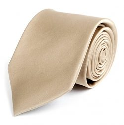 Solid Silk Mens Plain Multi Color Tie, Taupe