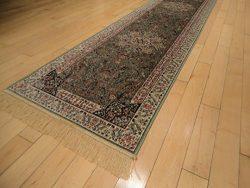 Luxury Green Rug Silk Traditional Rug Persian Isfhan Area Rug 2×8 Hallway Runner Green Runn ...