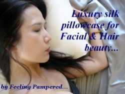 Set of 2 White Luxury 100% Silk Pillowcase for Hair & Facial Beauty Queen / Standard