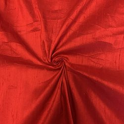 100% Pure Silk Dupioni Fabric 54″ Wide BTY Drape Blouse Dress Craft (Red)