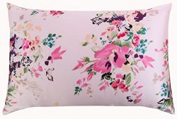 SLPBABY Silk Pillowcase for Hair and Skin with Hidden Zipper Print (Standard, Pattern17)