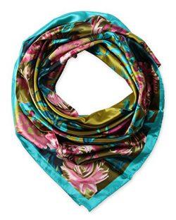 corciova Womem's 100% Silk Feeling Head Scarf for Sleeping Headband 35×35 Inches Came ...