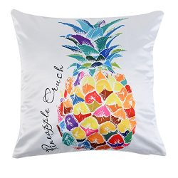 Uarter Square Silk Pillowcase Smooth Throw Pillow Case Decorative Throw Pillow Cover with Invisi ...