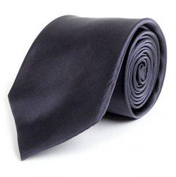 Solid Silk Mens Plain Multi Color Tie, Charcoal