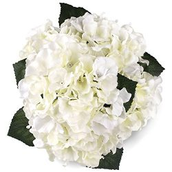 Soledi Artificial Silk Fake 5 Heads Hydrangea Beautiful Flower Bunch Bouquet Home Hotel Wedding  ...