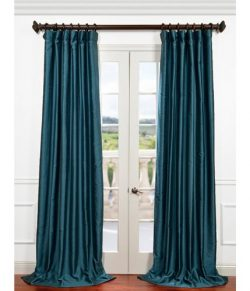 Half Price Drapes PDCH-HANB83-108 Yarn Dyed Faux Dupioni Silk Curtain, Fiji