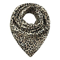 TONY & CANDICE Women's Square Scarf 100% Polyester Silk Feeling, 33X33 Inch (Color 20)
