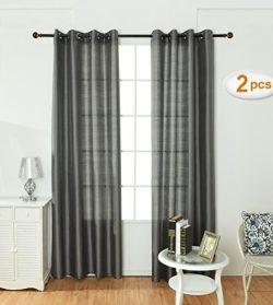 Opal Selection Semi-sanity Gauzy Curtains Natural Light Flow Faux Silk Durable Material Window C ...