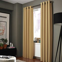 Midwest (WC86) Different Colors and Sizes1 Panel Drape Window Treatment Curtain Thermal Insulate ...