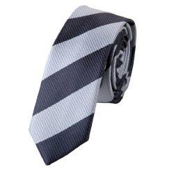 Silk Skinny Tie Black Grey Stripe Slim Skinny for Men with Gift Box PS1005 148cm*7cm Green