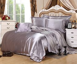 FUYA Polyester Silk Bedding Set Home Textile Bed Linen Set Clothing of Bed Bedcloth Soft Silky B ...