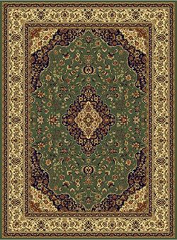 Luxury Silk Area Rugs Green Rug 5×8 Rug Silk Persian Isfahan Style 5×7 Living Room Rug ...