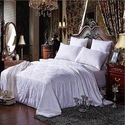 NS Luxury 100% Mulberry Silk Filled Comforter Silk Comforter Silk Duvet Silk Quilt Doona(87x95in ...