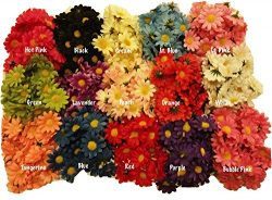 50pcs 4cm 10Colors Artificial Silk Sun Flower Daisy Head Home Wedding Party Favors Decorations T ...