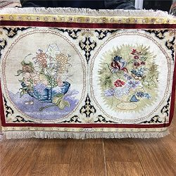 Yuchen Carpet 2×1.3 Vase Pattern Oriental Area Rug Handmade Bedroom Persian Silk Carpet