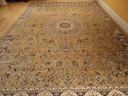 Large Rug Persian Silk Gold Rug 8×12 Gold Rugs Silk Tabriz Area Rugs Living Room Goldish Ar ...