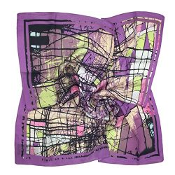 TONY & CANDICE Women's Graphic Print 100% Silk, Silk Scarf Square , 33X33 Inches (Prup ...