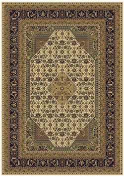 Silk Persian Ivory Rugs Traditional Area Rugs 5×8 Carpet Floor Area Rugs Cream Ivory Tabriz ...
