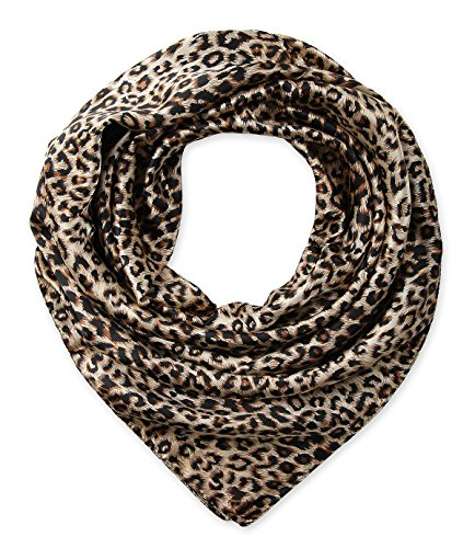 corciova Women's Large Satin Square Silk Feeling Hair Scarf 35 x 35 inches Leopard