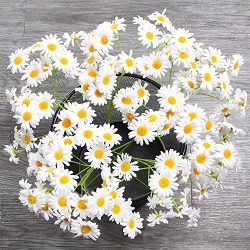 AmyHomie Artificial Flowers, Silk Daisy, Artificial Gerber Daisy for Home Decoration, Artificial ...
