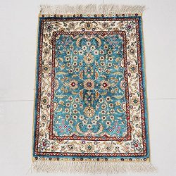 Yilong 1.5′ x 2′ Small Oriental Rugs Hand Knotted Traditional Persian Carpet Handmad ...
