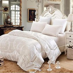hellosy100% Pure Long Mulberry Silk Filled Comforter Silk Comforter Silk Quilt Silk Duvet(86 X 9 ...