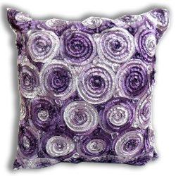 """ENJOY SMILE ""(Single) Two Tone 3d Bouquet of Purple Roses Throw Cushion Cover/pillo ..."