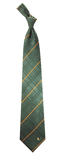"Miami Hurricanes NCAA ""Oxford"" Men's Woven Silk Tie"