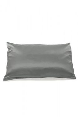 Fishers Finery 19mm Mulberry Silk King Pillowcase, Silver Pearl