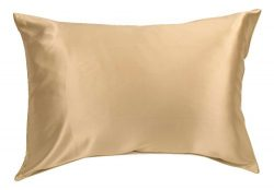 100% Silk Pillowcase for Hair Zippered Luxury 25 Momme Mulberry Silk Pillow Slip (King, Taupe)