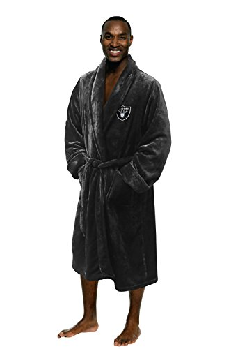 NFL Oakland Raiders Men's Silk Touch Lounge Robe, Large/X-Large