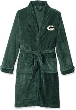 NFL Green Bay Packers Men's Silk Touch Lounge Robe, Large/X-Large