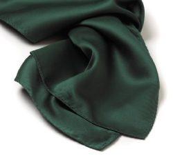 Solid Color Silk Scarves (30″ x 30″, Hunter Green)