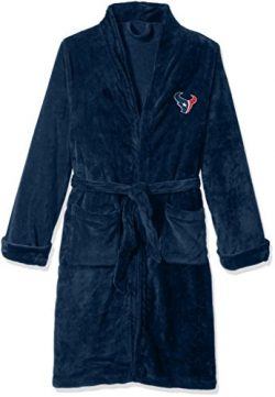 NFL Houston Texans Men's Silk Touch Lounge Robe, Large/X-Large