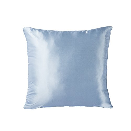 Light Blue Silk Throw Pillow : Tim & Tina Silk Satin Square Decorative Throw Pillow Case Cushion Cover (18