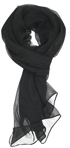 Ted and Jack – Solid Silk Lightweight Accent Scarf (Black)