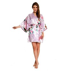 Peacock Robe SR-13 With A Free Gift (Extra $10 Value) (Small, Light Purple)