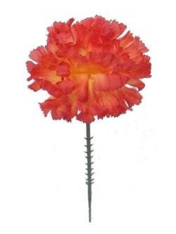 100 Carnations 5″ Orange Artificial Silk Flower Pick – Multiple Colors Available