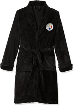 NFL Pittsburgh Steelers Men's Silk Touch Lounge Robe, Large/X-Large