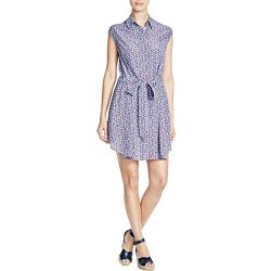 Tory Burch Womens Silk Belted Shirtdress