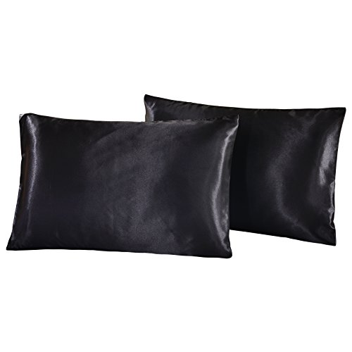 WarmGo 100% Luxury Silk Satin Pillowcase 2pc/Set,Good For